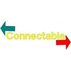 Indique que les bandes sont connectable entres elles