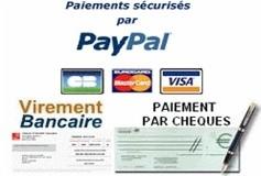 Modes de paiements acceptés : Paypal ( avec ou sans compte paypal) - virement bancaire - chèques.